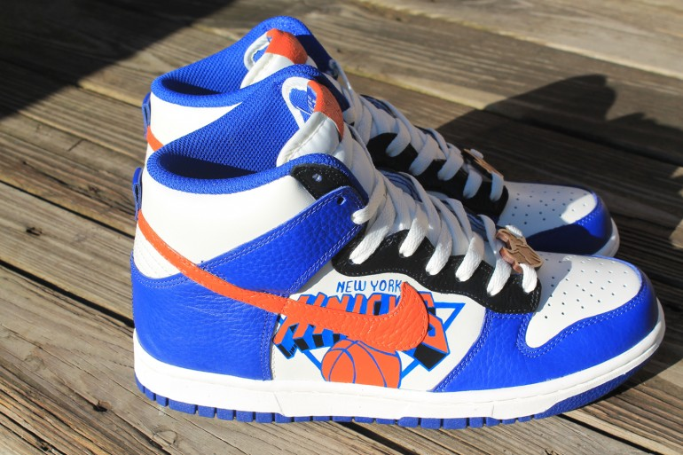 soletron-custom knicks dunks